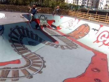 Bowl et skatepark de Saint-Pierre
