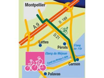 Piste de la mer de Montpellier à Pérols