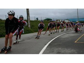 Piste de roller course de Meslay-du-Maine (Photo : club roller Bouguenais)