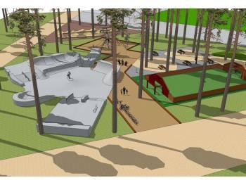 Skatepark de l'espace loisirs à Andernos