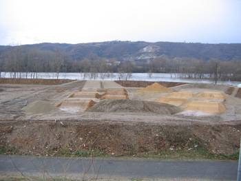 Piste de BMX de Saint-Rambert-d'Albon en construction (photo : mairie)
