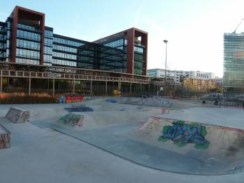 Skatepark en béton de Rueil-sur-Seine