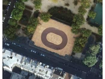 Ovale asphalté pour enfant à Paris