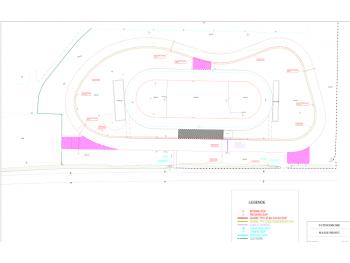 Le plan du nouveau circuit routier de Valence d'Agen