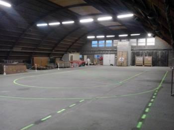 Le hangar du Roller Club Mélusin