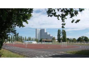 Piste d'athlétisme de l'Angevinière à Saint-Herblain