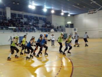 Match de roller derby au Gymnase Maurice Jacquet à Nancy (Photo : Colin Morin)