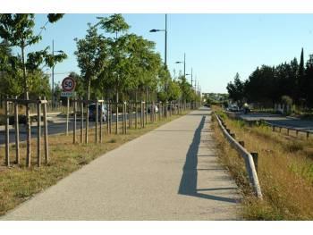 Piste cyclable du Millénaire à Montpellier