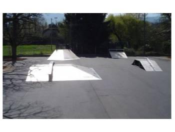 Photo de l'ancien Skatepark de Thonon-les-Bains, avant réfection
