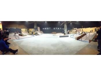 West Station skatepark de Charleroi