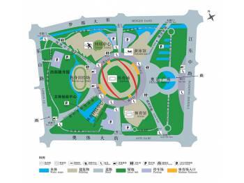 Plan du park Olympique à nankin