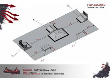 Skatepark de Chatillon sur Loire