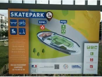 Nanterre Parc Hoche -panneau