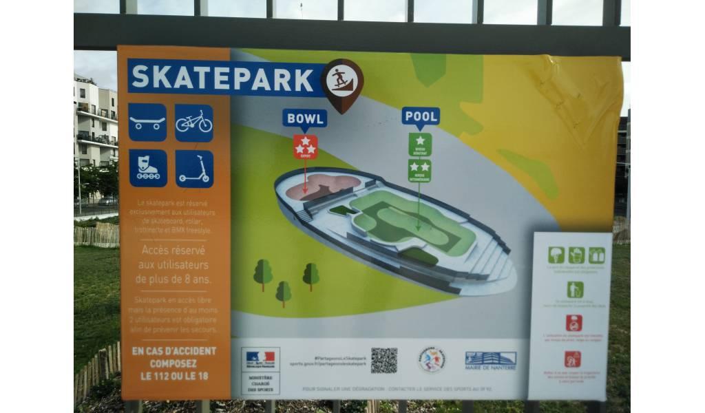 Nanterre Parc Hoche  Panneau