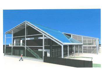 Salle de l'ASPTT à Bordeaux Caudéran (simulation de l'entrée)