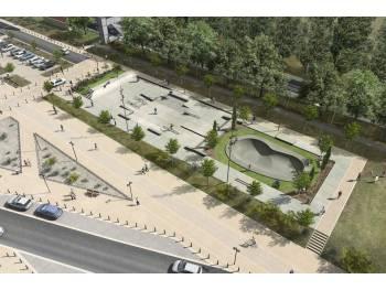 Skatepark de la gare à Salon de Provence