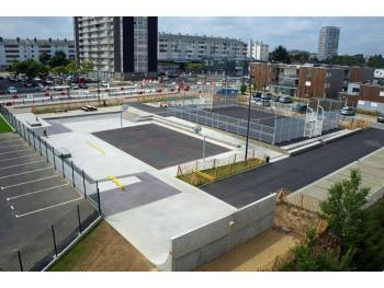 Skatepark de Saint-Brieuc (photo : Constructo)