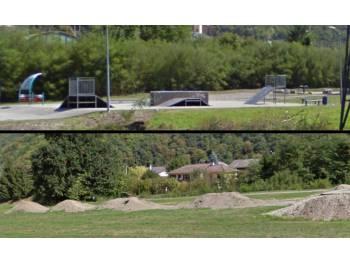 Skatepark et champ de bosse de La Bâthie