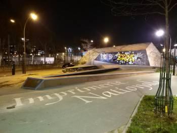Skatepark de la Place de la laïcité à Paris 15