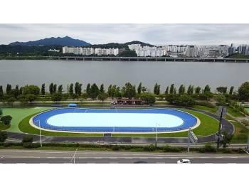 Piste de roller course de Séoul Hichon Hangang Riverside Park