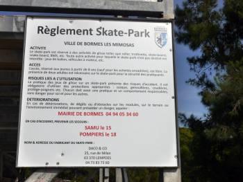 Skatepark de Bormes-les-Mimosas (photo : Vincent Buin)
