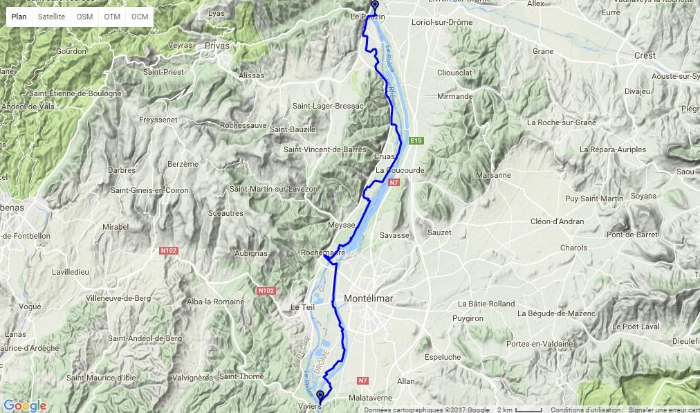 Voie verte Le Pouzin - Chateauneuf