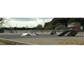 L'ancien skatepark de Castries qui a été enlevé depuis lors...