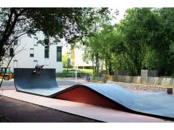Skatepark de Rennes-La Courrouze (photo : Constructo)