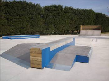 Skatepark de Villelongue-la-Salanque (photo : Newbee)