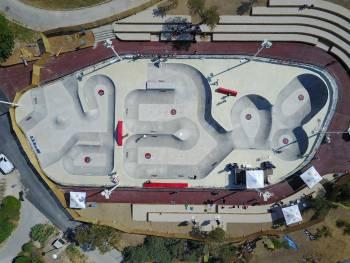 Vue aérienne du bowl de Marseille par Anthony Finocchiaro